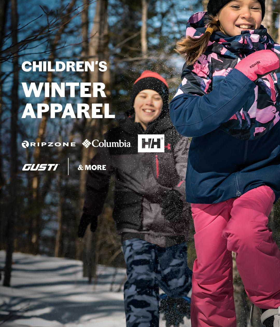 Children's winter apparel - Get them ready !