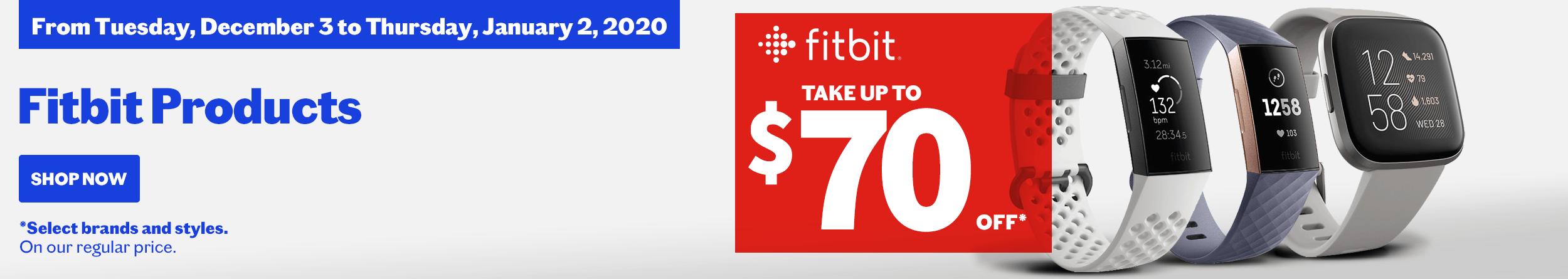Shop our Fitbit promotion