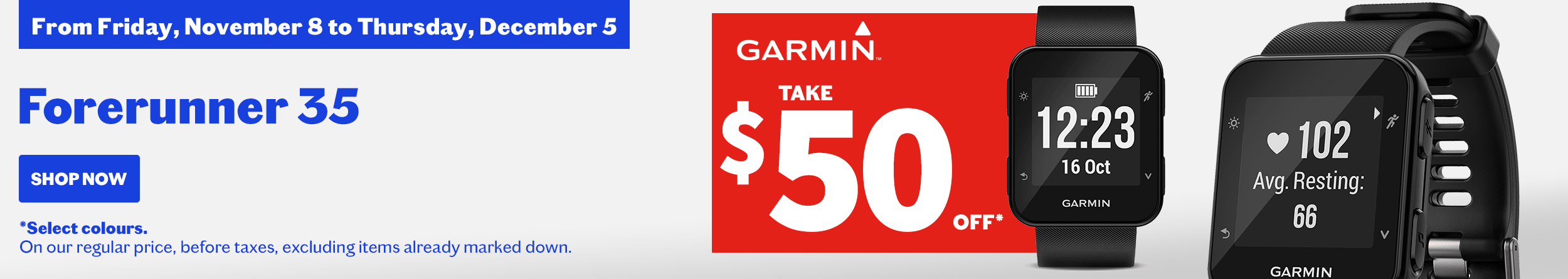Garmin forerunner activity watch promotion
