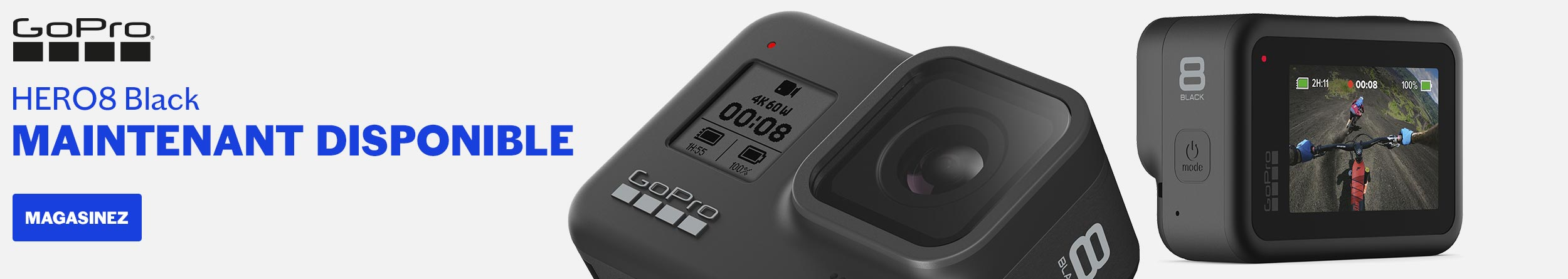 GOPRO HERO8 BLACK MAINTENANT DISPONIBLE