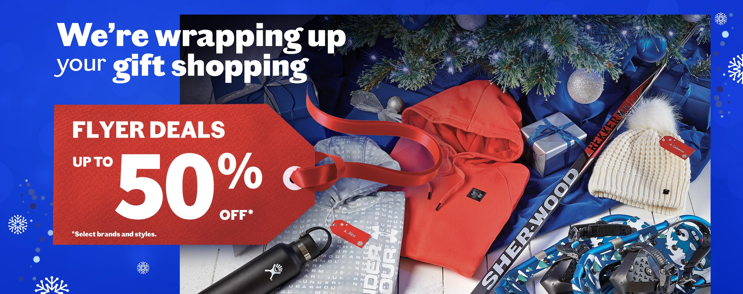 Were wrapping up your holiday shopping with flyer deals