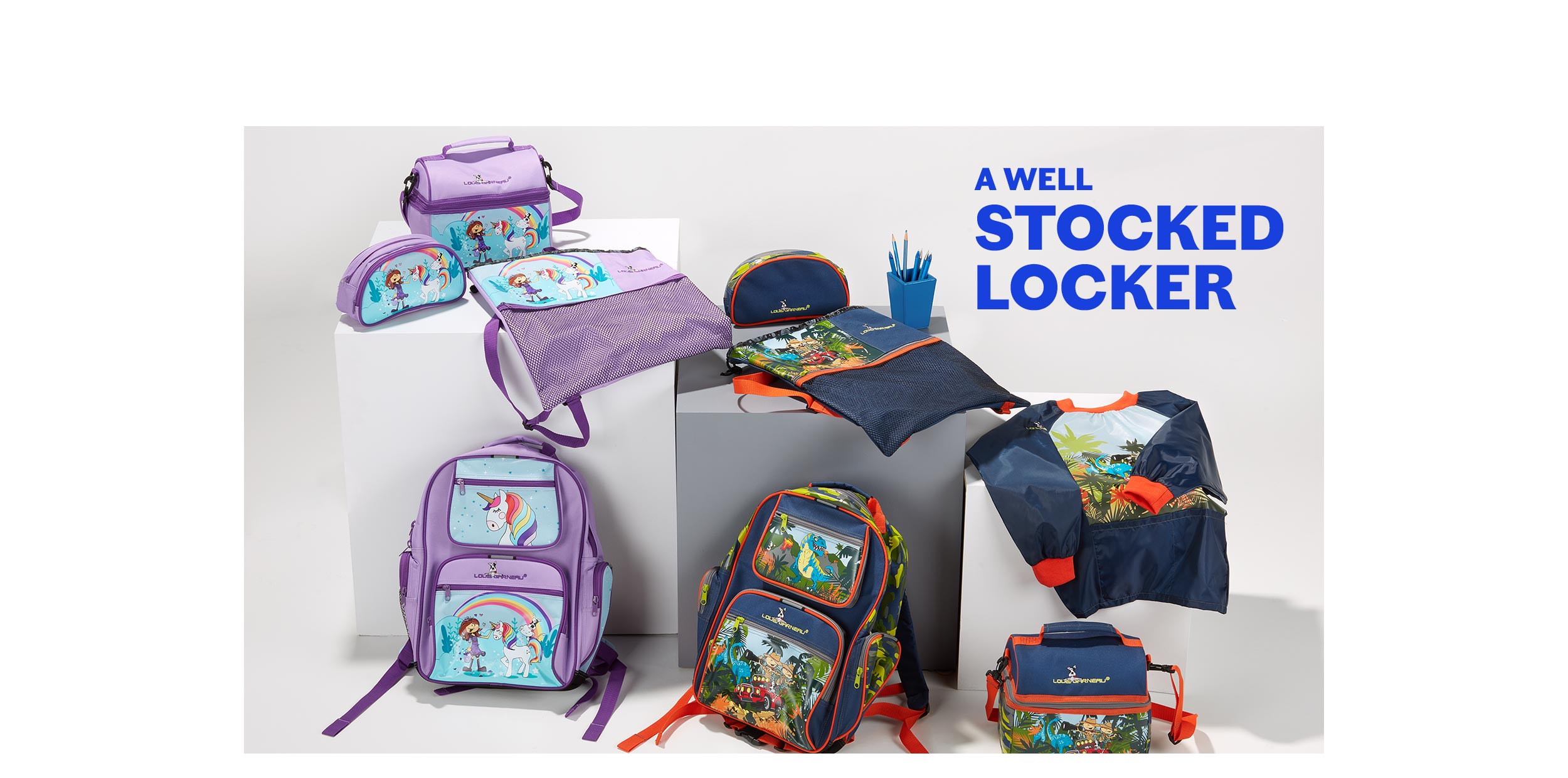 a well-filled locker lookbook back to school children