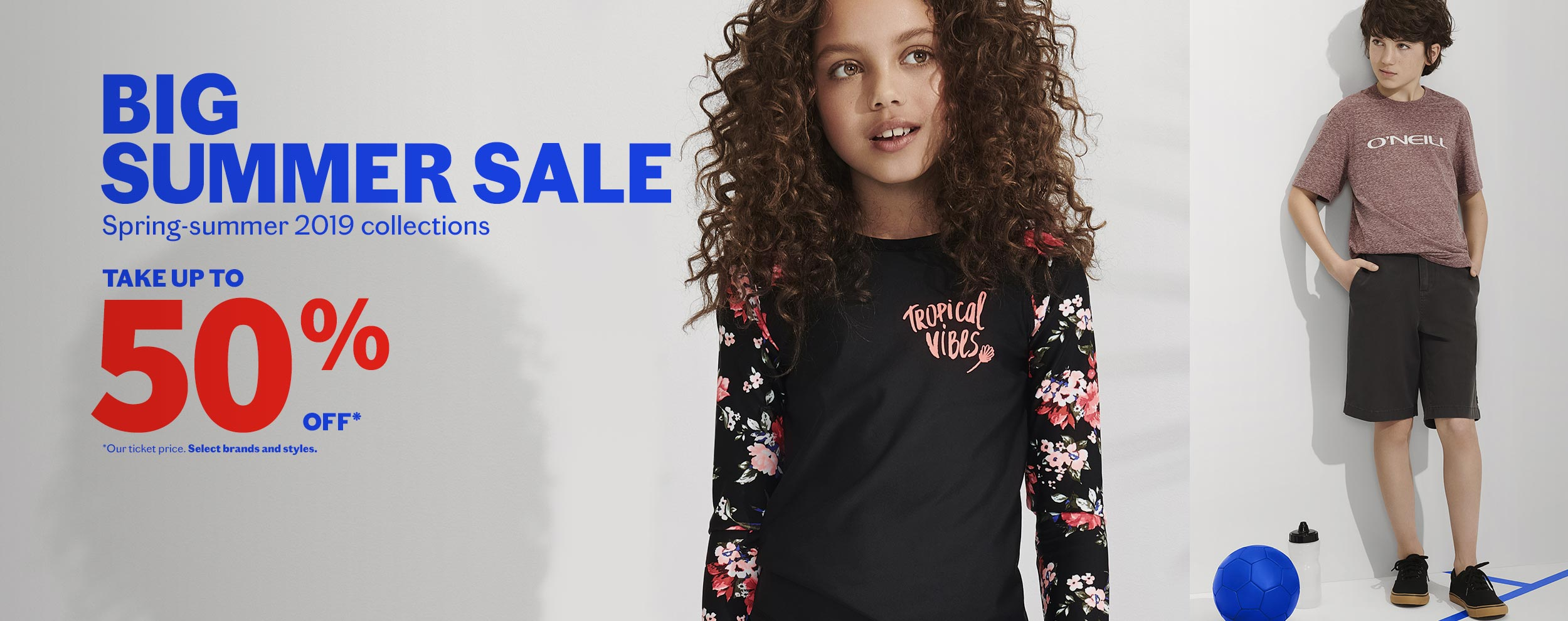 Kids' Summer Sale - up to 50% off !