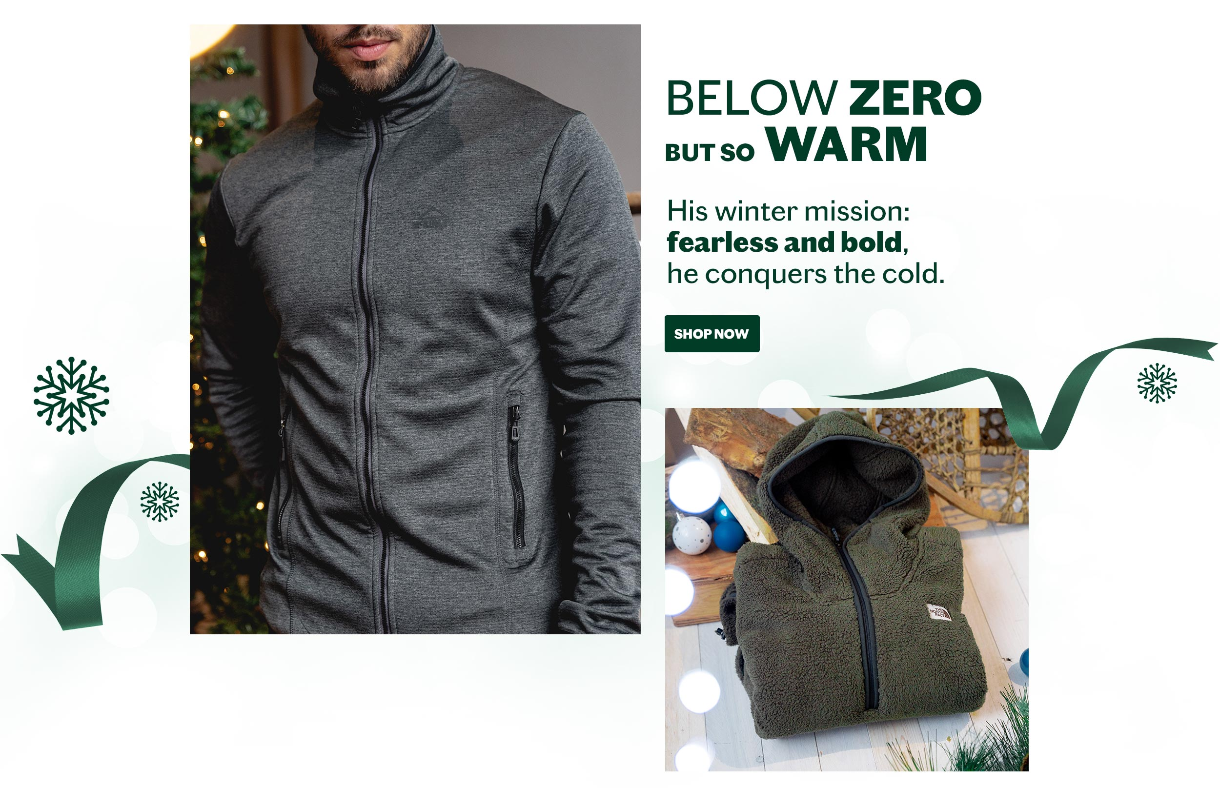 Below zero but so warm shop now
