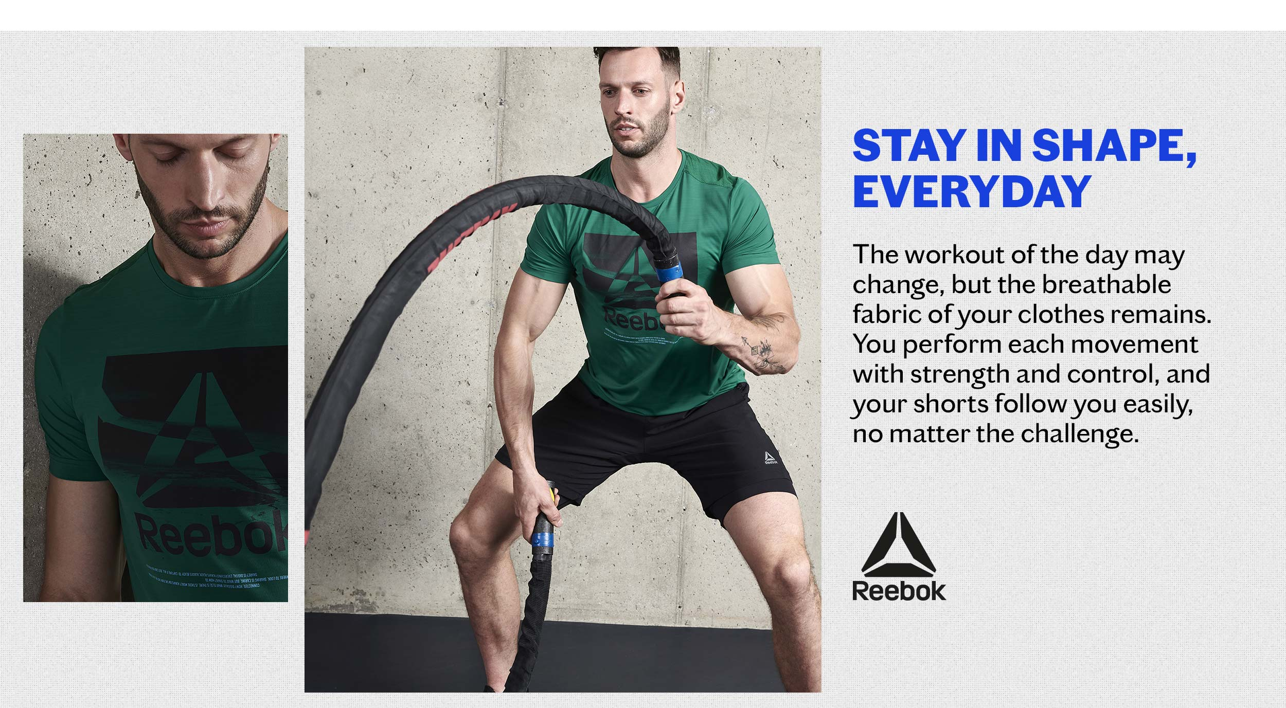 look 6 reebok training men lookbook return to sports