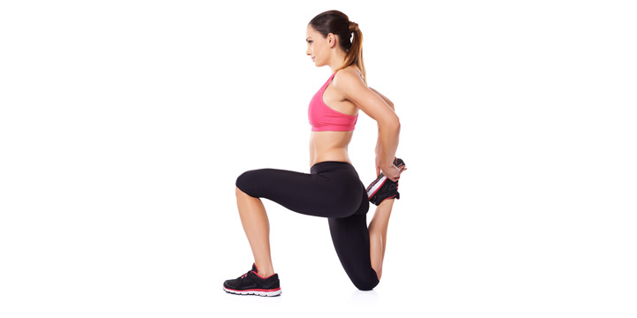 11 Étirement du quadriceps