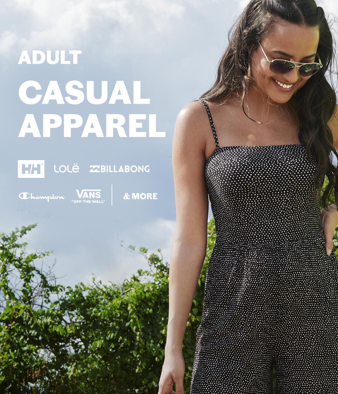 Casual apparel for adults