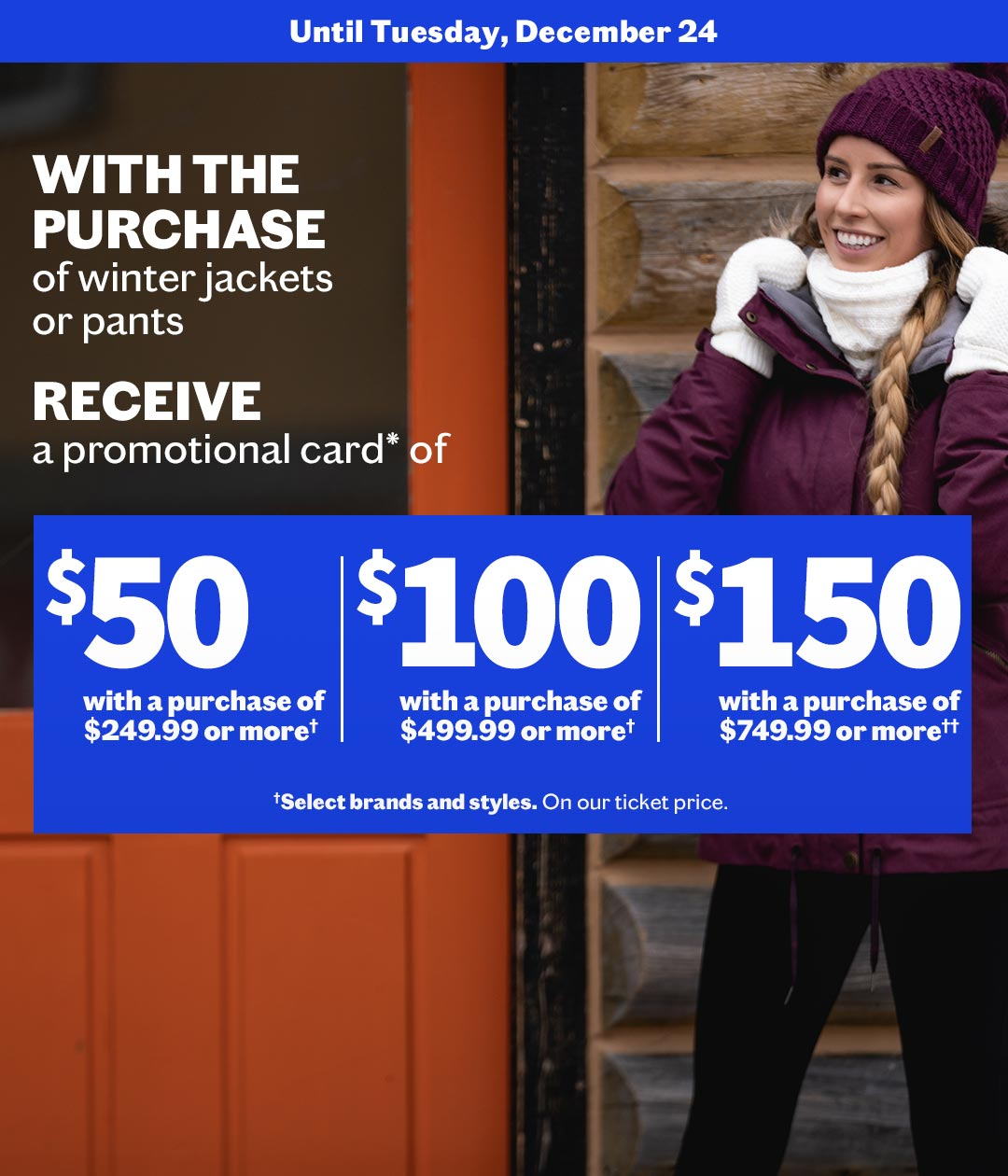 STAY WARM WITH OUR WINTER OUTERWEAR PROMOTION !
