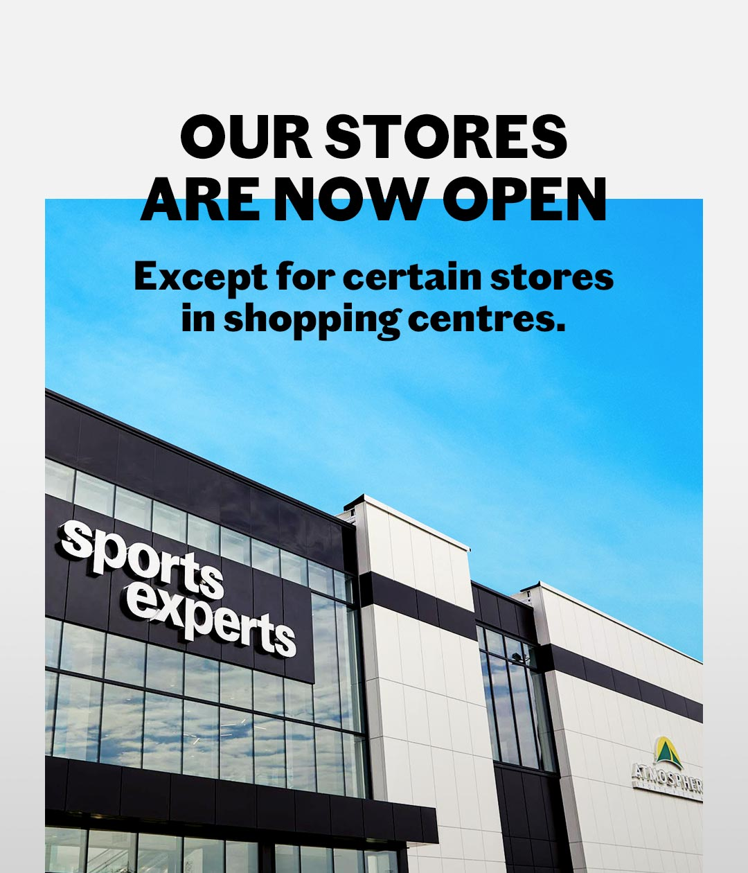 Shopping centre stores opening