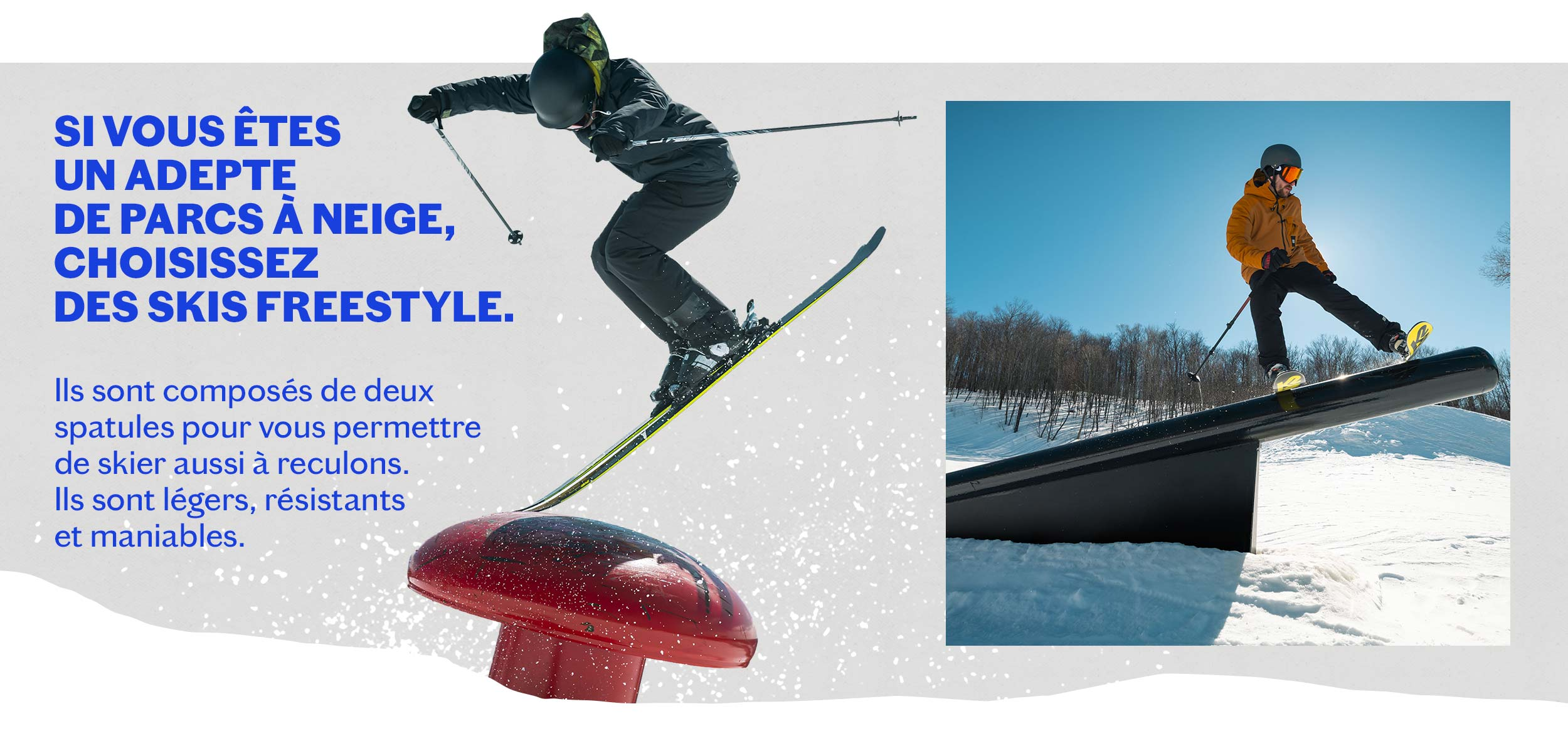 skis PARC freestyle hommes