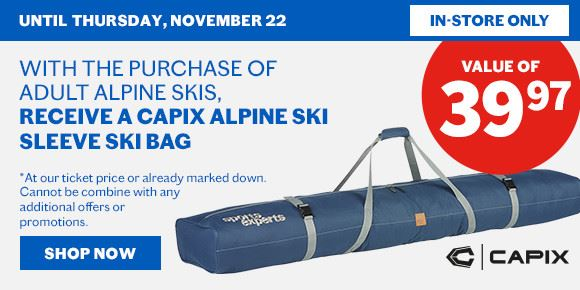 promo capix ski sleeve in store only