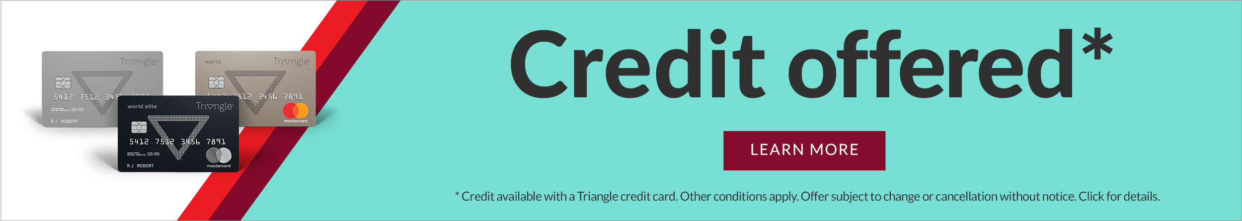 Triangle credit offer