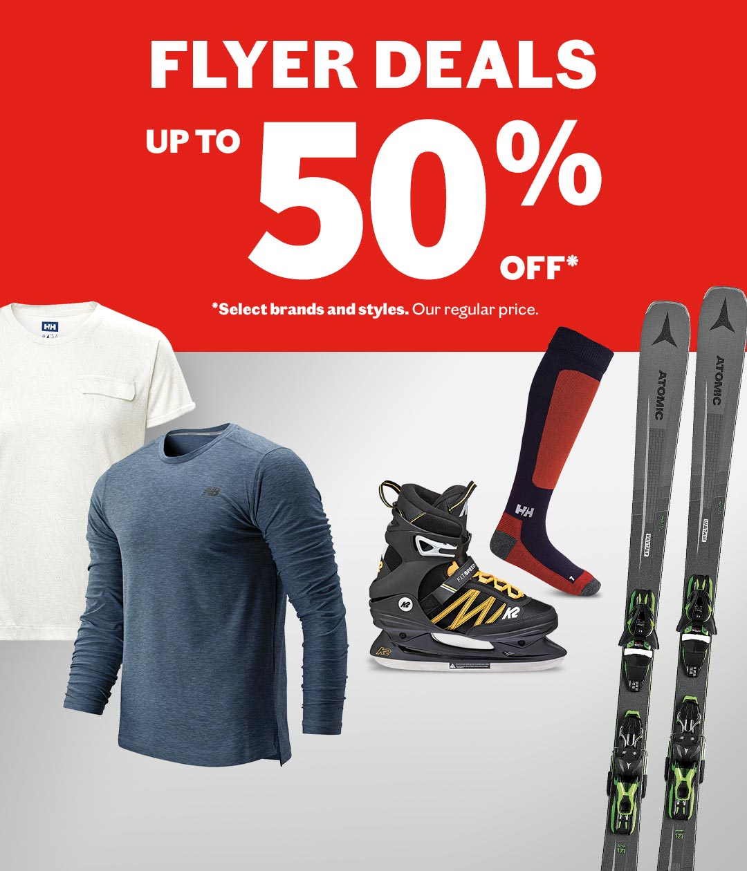 Flyer deals - Up to 50% off